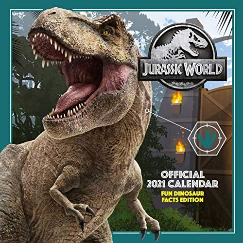 1art1 Jurassic World - Fun Dinosaur Facts Offizieller Kalender 2021 Poster-Kalender 30 x 30 cm