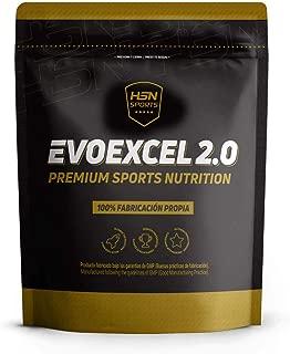 Whey Protein Isolate + Whey Protein Concentrate Evoexcel 2.0 de HSN Sports, Sin Gluten, Apto Vegetariano, Sabor Vainilla, 2000 gr