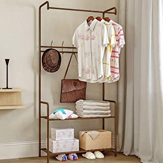 Porte-manteau Porte-manteau d'entrée avec porte-chaussures de rangement Organisateur de couloir 5 crochets et étagères à 2...