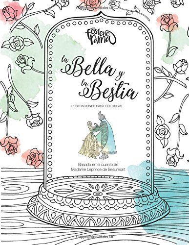 La Bella y La Bestia: Ilustraciones para colorear