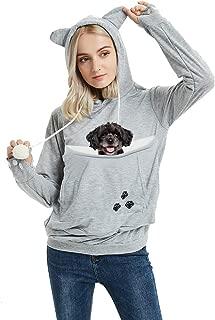Unisex Pet Carrier Hoodie Cat Dog Pouch Holder Sweatshirt Shirt Top