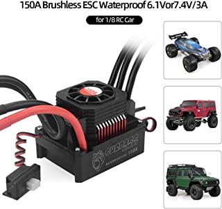 Festnight SURPASS HOBBY 150A Brushless ESC Waterproof Electric Speed Controller for 1/8 RC Truck Off-road Car