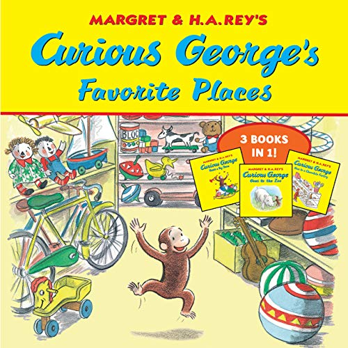 Curious George's Favorite Places: Three Stories in One (English Edition)