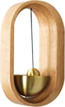 SUNASQ Massief Houten Deurbel Elegante en Vintage Messing Deurbel Magnetische Houten Deurbel voor Thuiskantoor