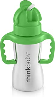 Thinkbaby Stainless Steel Thinkster Bottle, Green (9 ounce)