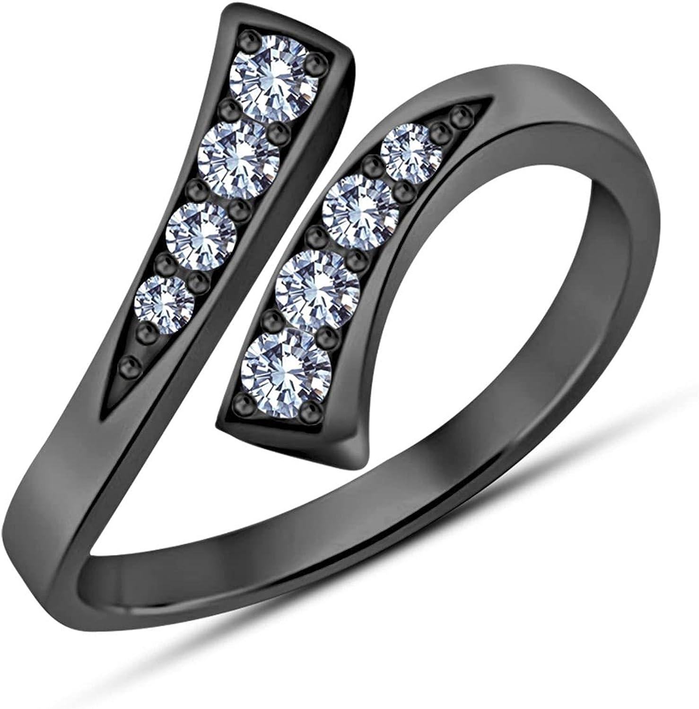 Gemstone Jewellery Very popular 925 Sterling Same day shipping Silver Bypass Adjus Black Womens