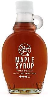 comprar comparacion Jarabe de arce Grado A (Dark, Robust taste) - 189ml (250g) - Miel de arce - Sirope de Arce - Original maple syrup