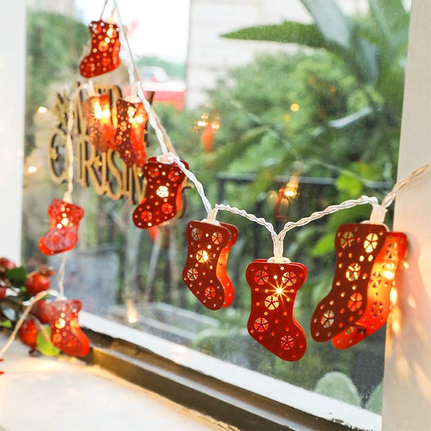 AZX Led Christmas Sock String Light Decorative Battery Operated Xmas Indoor Lights Holiday Festive Fairy Lamp 12V (3 Meter 30 LEDs)