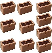 Fenteer Set van 10 Siliconen Stoelpootbeschermers, Stoelpoten, Voetkappen, Beschermkappen, Stoelpootkussens - Rechthoekig S