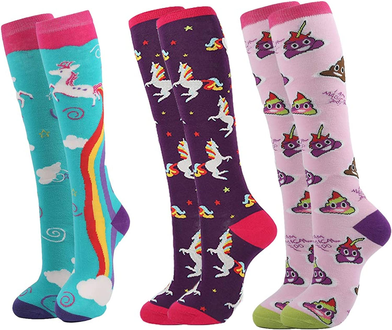 YEADU Cotton Novelty Knee High Women Socks US 48