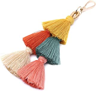 Tassel Bag Pendant Charm Keychain Women Colorful Keyring Decoration 8''
