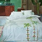 Pip Studio Zierkissen Indian Palms I Farbe White Weiss I 45x65 cm I Palmen auf weissem Grund
