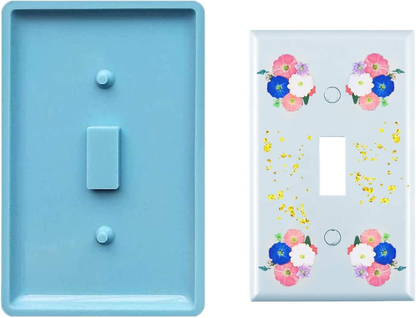 2PCS Switch Covers Mold Wall Plates for Outlets Home Decor Resin Crafts Art Supplies Cashger Switch Panel Resin Silicone Molds