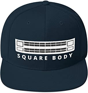 Aggressive Thread Squarebody Chevy Hat with Square Body Grille Snapback Cap