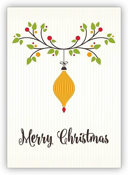 Decorazioni Natalizie In Inglese.Set Di 10 Saluto Di Natale Elegante Cartolina Di Natale Inglese Con Decorazioni Natalizie Merry Christmas Con Busta Amazon It Cancelleria E Prodotti Per Ufficio