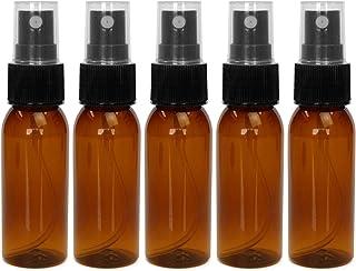 ease-aroma(イーズアロマ) 丸肩 スプレーボトル 茶色 30ml×5本