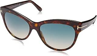 TOM FORD Women's Lily TF430 56F Havana Brown Cat eye Sunglasses 56mm