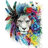 Hergon Parches de león para niños, pegatinas de bricolaje, parche para planchar, para bolsos, sombreros, vaqueros, 126#