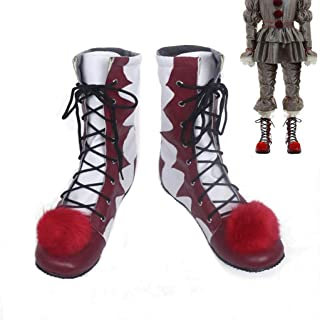 Clown Pennywise Shoes Halloween Stephen King's it Pennywise Clown Pennywise The Clown Costume Men Women Cosplay Costumes Boots Halloween Party