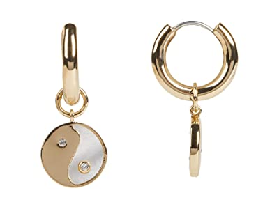 Rebecca Minkoff Yin-Yang Huggie Hoop Earrings (Gold) Earring