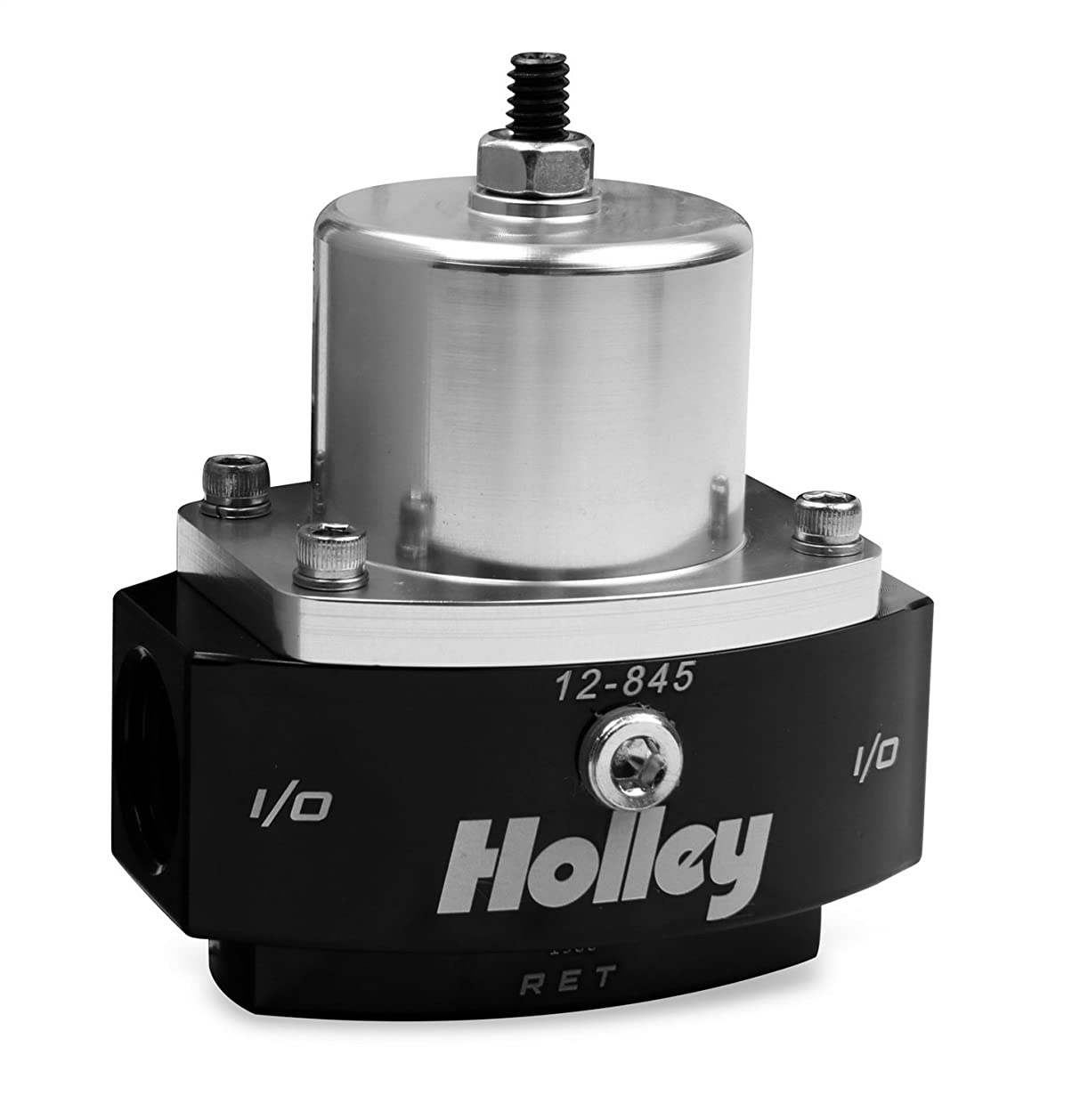 Holley 12-845 8AN Inlet / 2 x 6AN Outlet 4.5-9 PSI Adjustable Bypass Billet Fuel Pressure Regulator gucqx7515