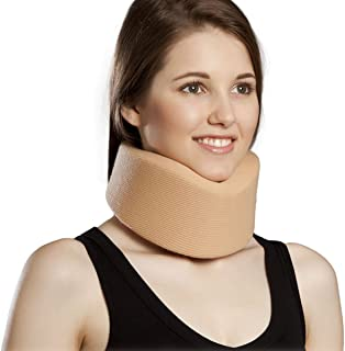 Orthomen Neck Brace by Cervical Collar - Adjustable Soft Support Collar Can Be Used During Sleep - Wraps Aligns and Stabilizes Vertebrae - Relieves Pain and Pressure in Spine(S)