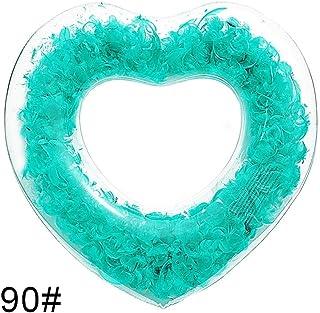 DJYD Anillo de Agua Total Transparencia Piscina con Forma de corazón Inflable for Adultos (Color: Rosa) FDWFN (Color : Chocolate)