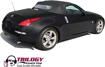 Sierra Auto Tops Nissan 350Z 2004-2009 Convertible Soft Top Replacement, w/Heated Glass Window, Twill Grain Apex Vinyl, Black