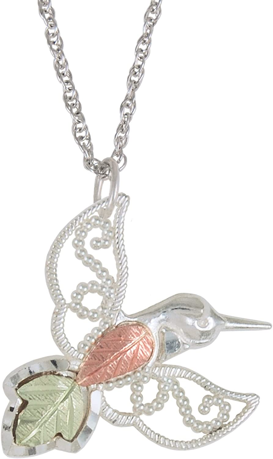 Granulated Bead Hummingbird Pendant Sterling Max 73% OFF 1 Silver Necklace Ranking TOP13