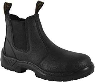 Leather Slip on Work Boot - Non Steel Cap