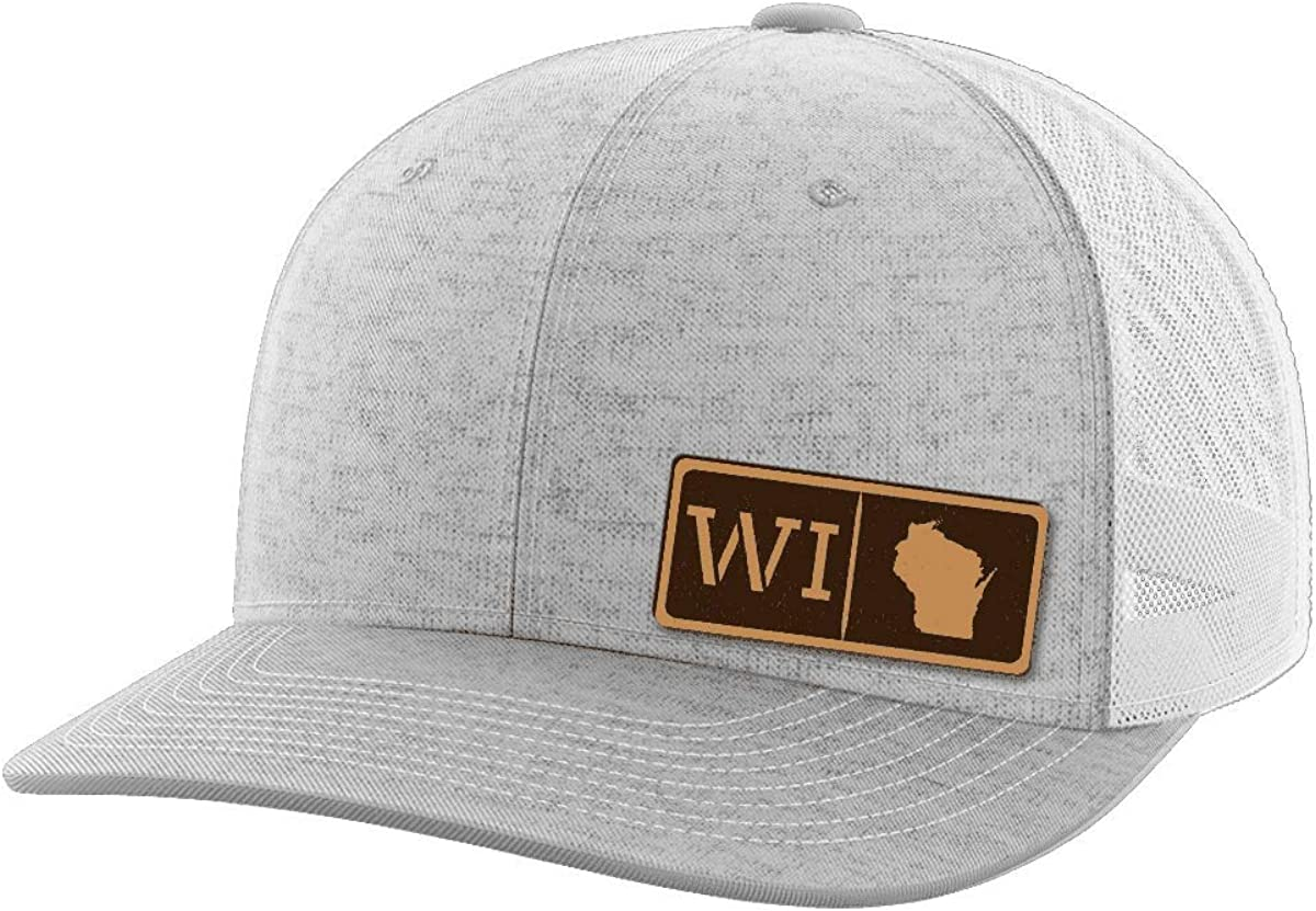 Wisconsin Homegrown Leather Patch Hat