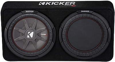 "Kicker 1000W 12"" 2-Ohm Slim Shallow Subwoofer Sealed Enclosure   43TCWRT122"