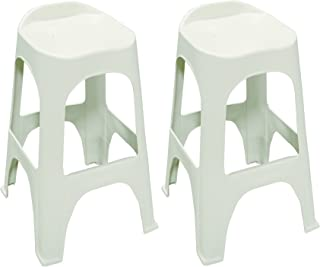 Adams Manufacturing 8350-48-3702 Real Comfort 2-Pack Bar Stool, 30-Inch, White