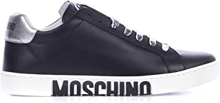 Luxury Fashion | Moschino Men MB15062G1A0100A Black Leather Sneakers | Spring-summer 20