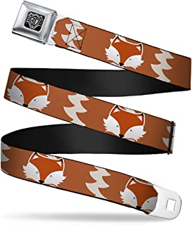 Brown Bear Repeat Yellow Buckle-Down Seatbelt Belt 32-52 Inches in Length 1.5 Wide