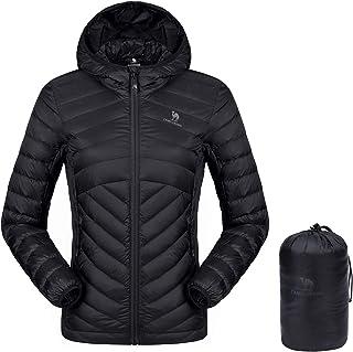 CAMEL CROWN Women's Lightweight Hooded Down Jacket Packable Puffer Insulated Coats