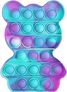 HuaMore Fidget Toys, fidjetoys Toy Anti Stress, popit Jeux Pas Cher, Multicolore popite fijets Toys entistesses Objet sati...