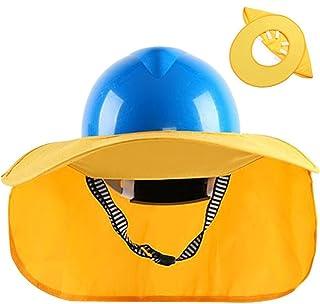 IKENOKOIヘルメット用日除け 首や顔保護 日差し除け 防暑 取付簡単(イエロー)