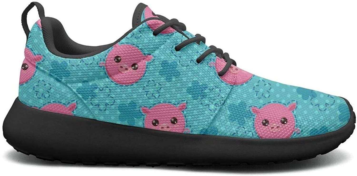 Gjsonmv Funny Cute Piglets Head mesh Lightweight shoes for Women Fashion Sports Basketball Sneakers shoes