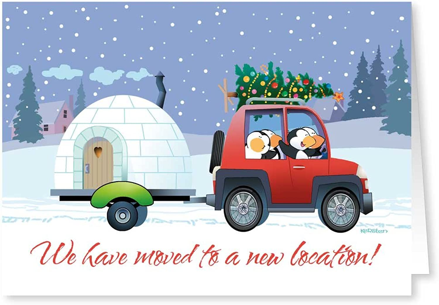 New Address   We've Moved Holiday Card 18 Cards  19 Envelopes by Stonehouse Collection B00YFJMKJG | Gutes Design