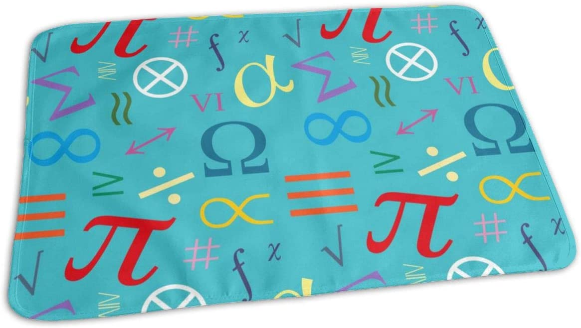 UAJAR Limited Special Max 56% OFF Price Mathematical Symbols Baby Reusable Changing Port Pad Cover