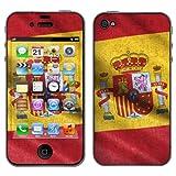Displayschutz@FoliX - atFoliX Fútbol 2012 Diseño Skin Pegatina'Bandera España' para Apple iPhone 4 / 4s