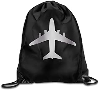 Outdoor AIRPLANE TOP Platinum Style Drawstring Backpack
