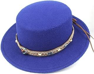 Hat Size 56-58CM 2019 Authentic Men Women Flat Top Hat With Retro Belt Wool Trilby Hat Church Jazz Hat Fashion Hat