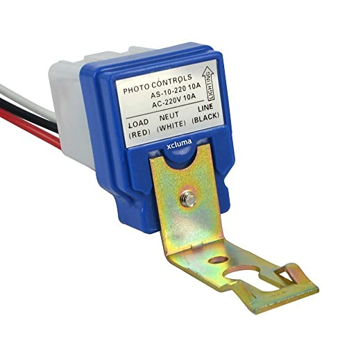 xcluma Photo Control Sensor Automatic Street Light Lighting Switch Photocell Photoswitch 10A 220V (As-10 Square)