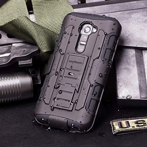 Cocomii Robot Belt Clip Holster LG G2 Mini Case, Slim Thin Matte Kickstand Swivel Belt Clip Holster Reinforced Drop Protection Fashion Phone Case Bumper Cover Compatible with LG G2 Mini (Black)