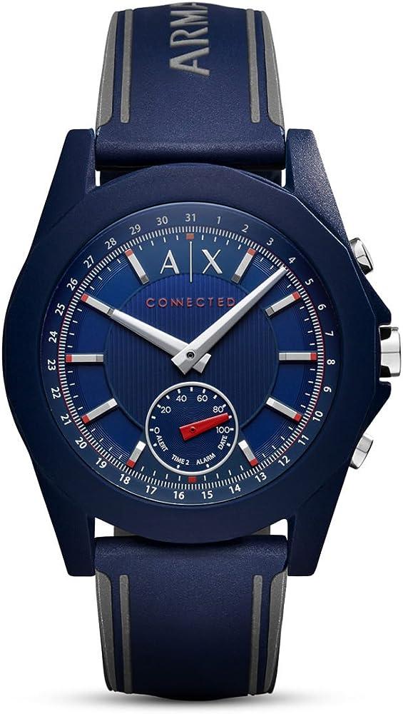 Armani exchange,orologio unisex,in silicone blu AXT1002