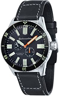 Spinnaker Mens HASS Vintage Watch - Black/Silver