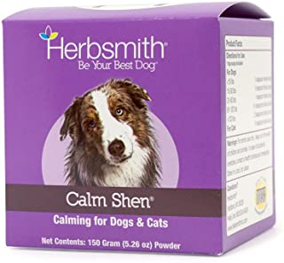 Herbsmith Calm Shen – Herbal Blend for Dogs & Cats – Natural Anxiety Remedy for Dogs & Cats – Feline and Canine Calming Su...