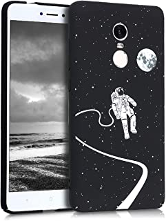 kwmobile Case for Xiaomi Redmi Note 4 / Note 4X - Hard Plastic Anti-Scratch Shockproof Protective Smartphone Cover - White/Black